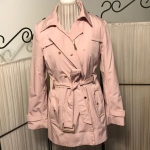 Calvin Klein Rose Pink Trench Coat